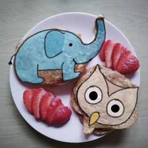 snídaně kreslená